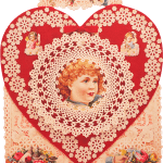 Victorian Valentine decoration to hang from the ceiling