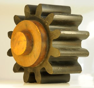 Antique wooden gear mold