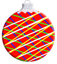 Red criss cross ornament