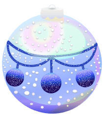 Frosted Christmas ornament