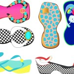Poster of flip-flops by Patricia Wiskur
