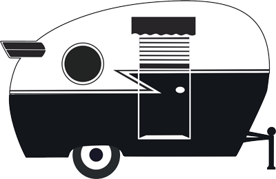 camper trailer with wing trim icon