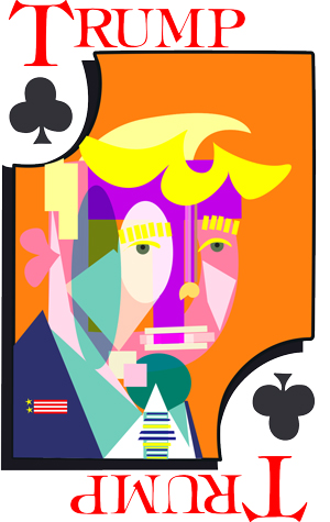 Modern Portrait of Prez Donald Trump for Card Art