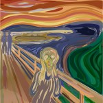 Patricia Wiskur illustration inspired by Edvard Munch masterpiece titled The Scream