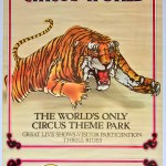 Ringling Bros. and Barnum & Bailey circus poster with pouncing tiger