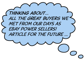 word balloon advertises coming article on great eBay Buyers
