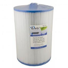 Darlly SC710 - 25cm Hot Tub Filter Cartridge for Vita Spa and Coleman Spas - Swindon Pool Hot Tub & Spa Chemicals And Accessories