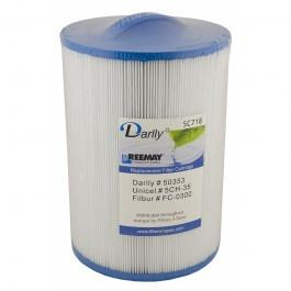 Darlly SC718 - 20cm Hot Tub Filter Cartridge for Artesian Spas and Maax Spas - Swindon Pool Hot Tub & Spa Chemicals And Accessories