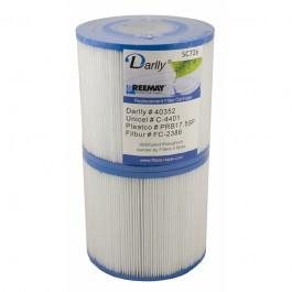 Darlly SC726 - 12cm Hot Tub Filter Cartridge (Twin Pack) - Swindon Pool Hot Tub & Spa Chemicals And Accessories