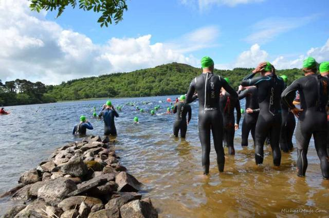 The swim start at Callow lake