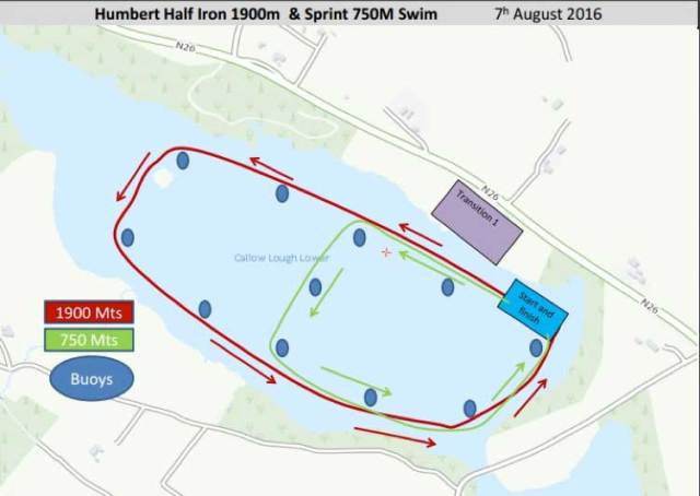 Sprint and Half-Iron Triathlon and Relay events course map