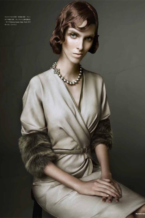 Chloe Memisevic in Donna Karan by Yasunari Kikuma for Numéro Tokyo November 2011