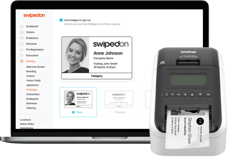 SwipeOn – Experience contactless Sign In