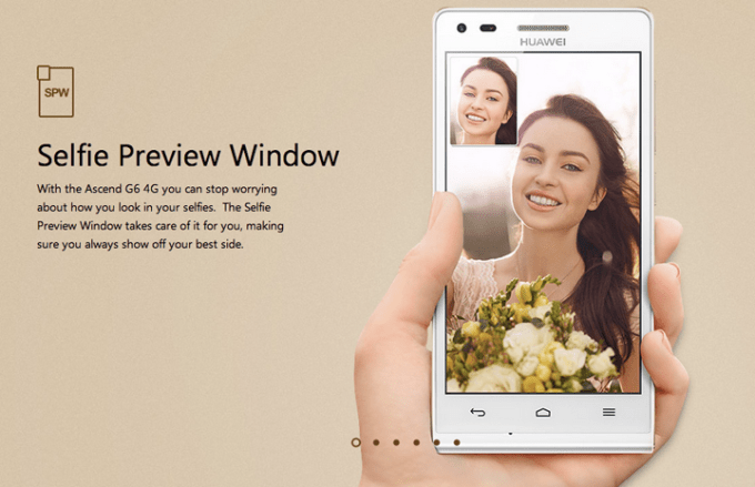 Huawei Ascend G6 Selfie Preview