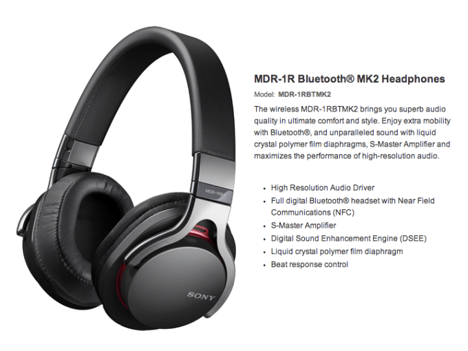 Sony High Resolution Audio Series MDR-1RBTMK2