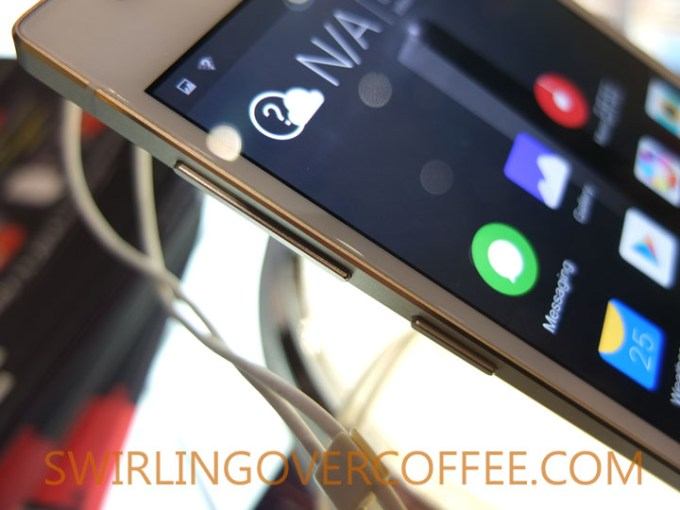 Gionee Elife S5.5 side buttons