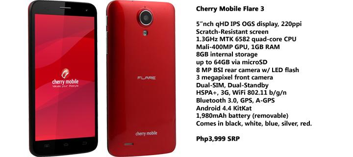 Cherry Mobile Flare 3 Specs