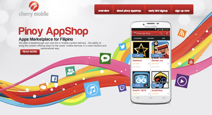 Cherry Mobile Pinoy AppShop Website