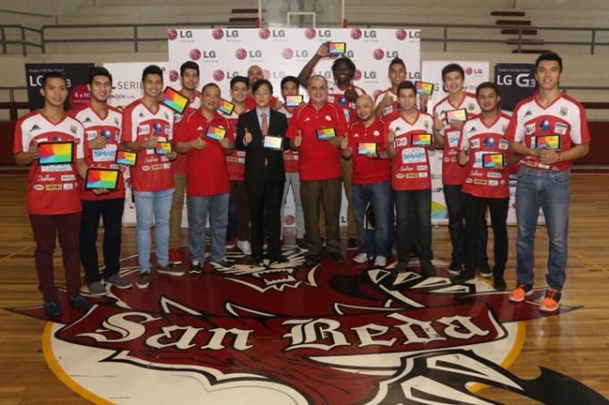 San Beda Red Lions NCCA  LG G Pad