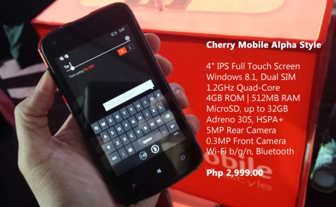 Cherry Mobile Alpha Style Specs