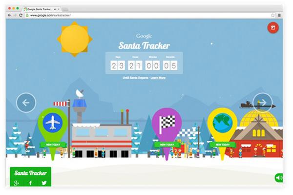 Google Santa Tracker 1
