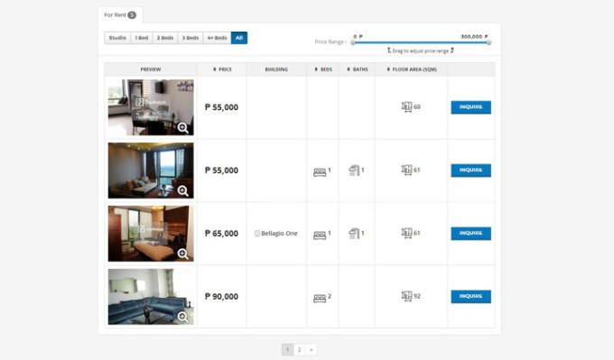 ZipMatch.com, ZipMatch Explore, Unit Listings