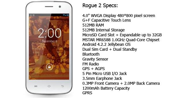 Ekophone Rogue 2 512MB (White)