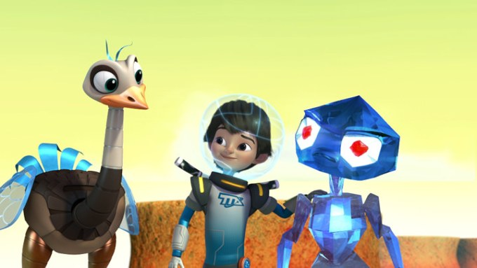 "MILES FROM TOMORROWLAND - ""Eye to Eye"" - The Callistos encounter Spectryx, an alien who can only see in the infrared spectrum. This episode of ""Miles from Tomorrowland"" premieres on Friday, May 15 (9:00 AM - 9:30 AM ET/PT) on Disney Junior. (Disney Junior) MERC, MILES, SPECTRYX"