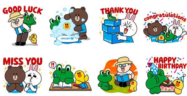 LINE x UNICEF Special Edition stickers2