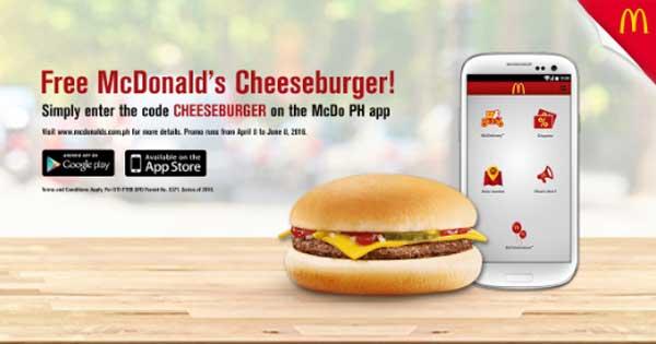 McDonal-App-Free-Cheeseburger