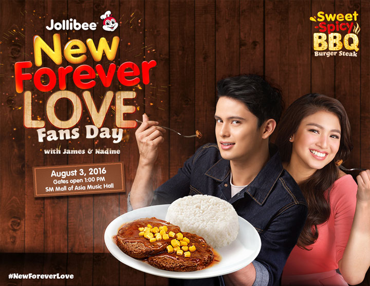 Jollibee Sweet-Spicy BBQ Burger Steak, JaDine, Nadine Lustre, James Read