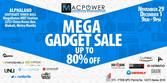 Macpower Mega Gadget Sale 2016
