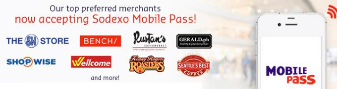 Here are some of the merchants that accept Sodexo Mobile Pass. This list is growing.