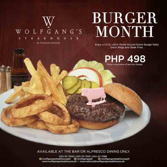 Wolfgang's Steakhouse Burger