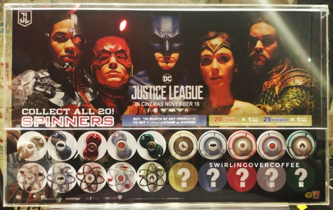 Here are the currently available (as of this post) Justice Spinner designs. Note that 5 more will be revealed. So hop over to 7-eleven and start collecting stamps.