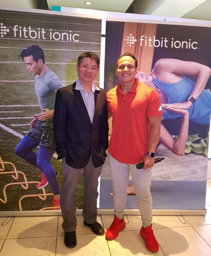Fitbit Regional Lead for Southeast Asia Hong Kong and Taiwan with Celebrity Fitness Trainer Arnold Aninion