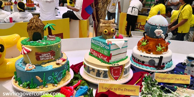 Cake design entries of the 12th Goldilocks ICDC Overall Champion Lyceum of the Philippines.