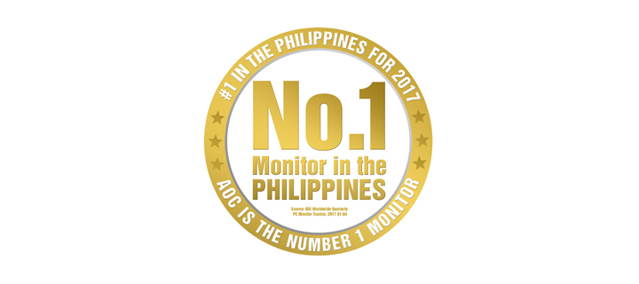 AOC takes the lead in the Philippine Market Share Throughout 2017