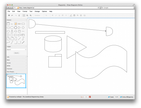 Diagram.ly (free online diagram drawing application for workflow ...