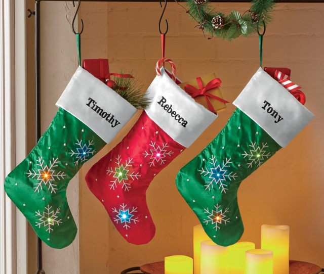 Personalized Snowflake Stocking