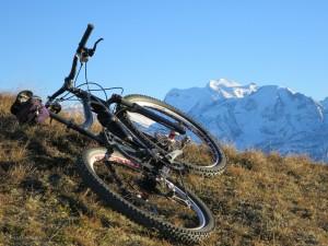 Biking above Verbier, November 18, 2015