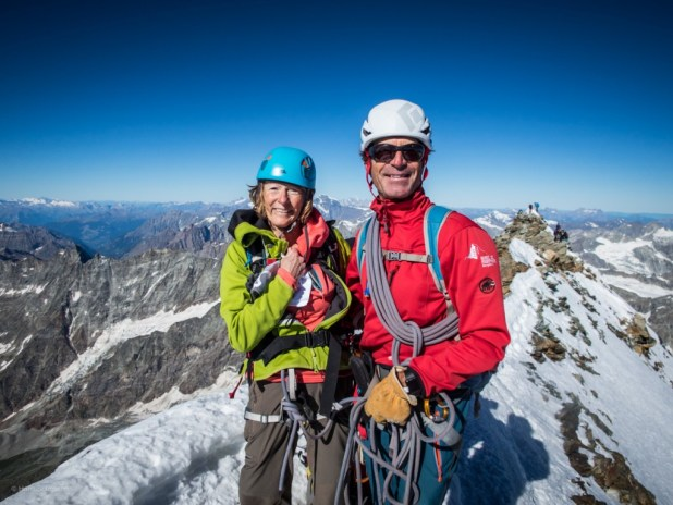 Susan Dennard on the top of the Matterhorn.