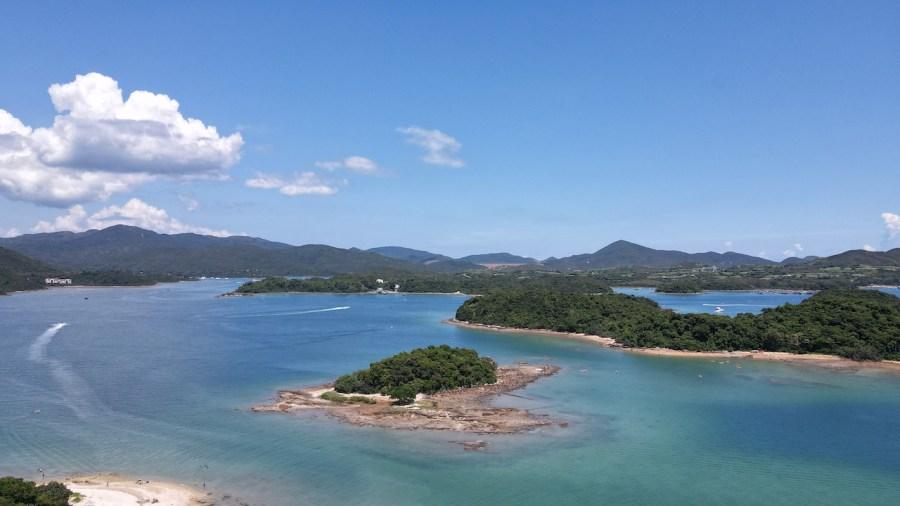 Tai Chan Chau, and Sharp Island in the background - which you can reach via Kiu Tsui Pier.
