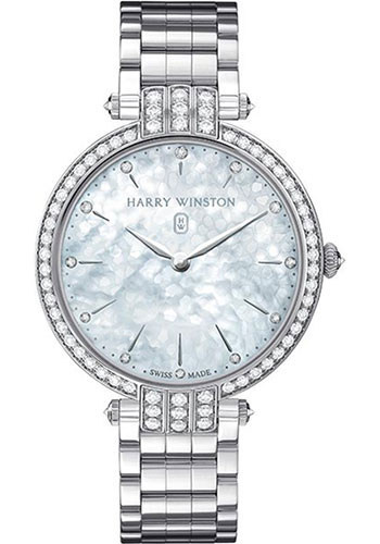 Harry Winston Premier Collection Ladies 36 Mm White Gold Watches