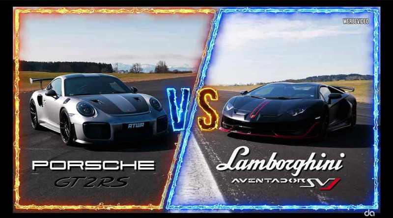 Lamborghini Aventador SVJ vs Porsche GT2 RS