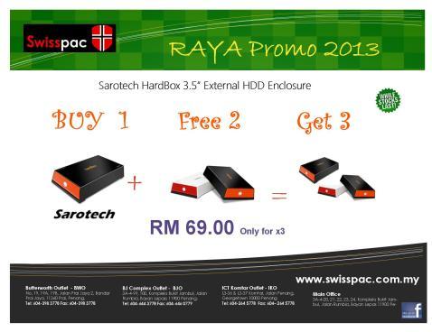 2013 Sarotech  Hardbox Raya Promo