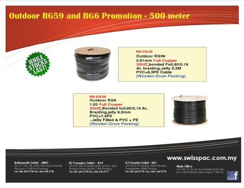 2013 RG59 RG6 Cable Promo