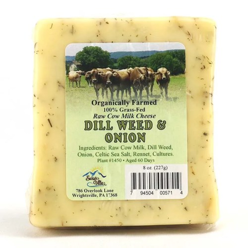 8 oz Dill Weed and Onion Cheddar Cow Cheese