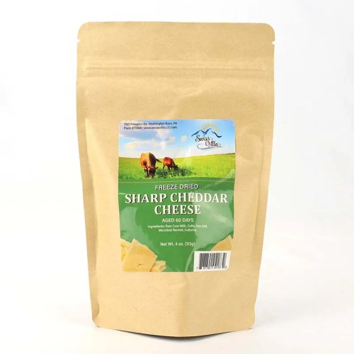 4 oz Sharp Cheddar Freeze Dried Cow Cheese