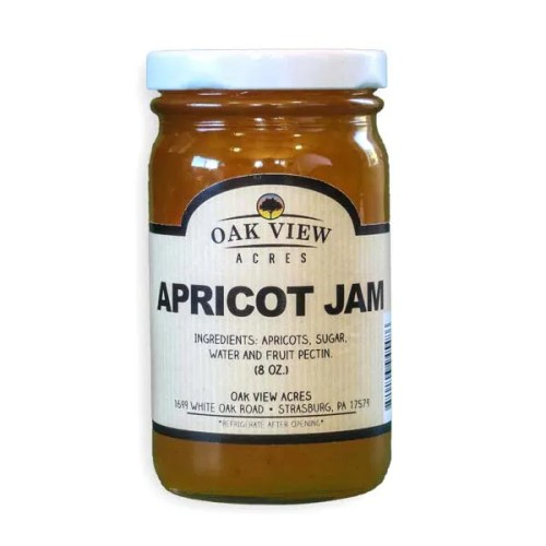 8 oz Apricot Jam from Oak View Acres
